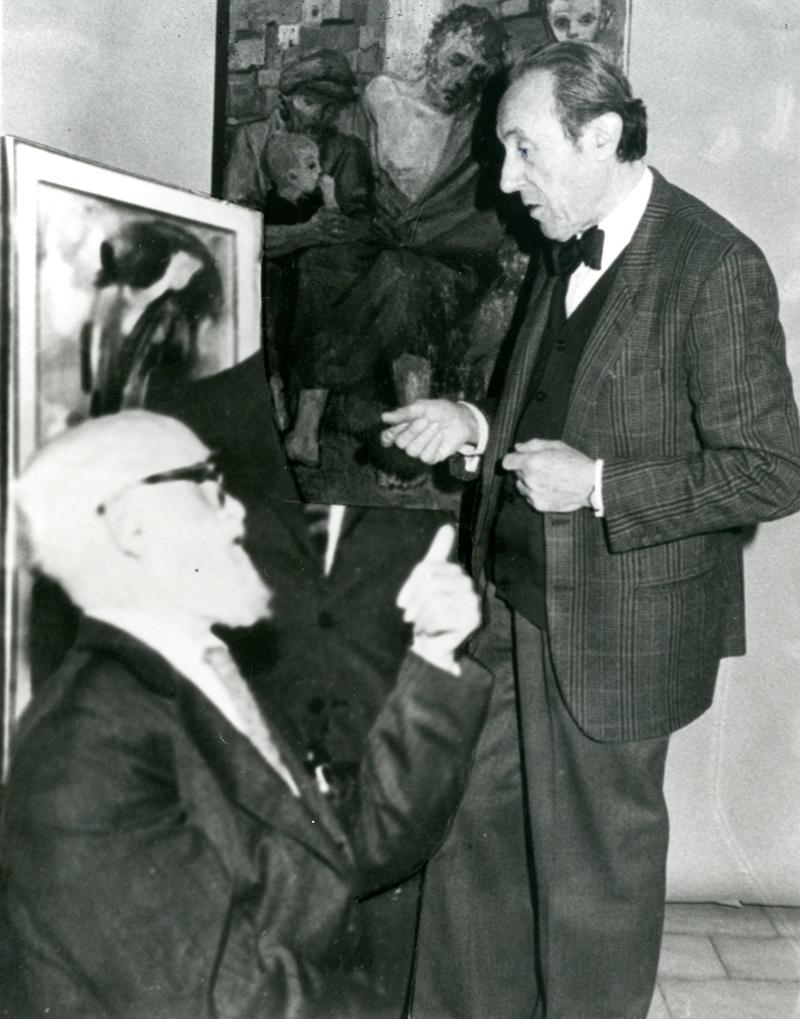 Trento Longaretti con Aldo Carpi, 1972
